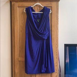 Ralph Lauren cocktail dress in cobalt blue 16W